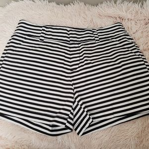 Calvin Klein| black and white stripe Ladies shorts
